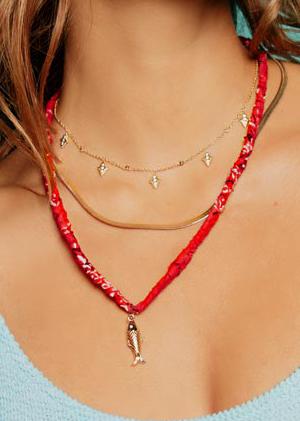 Necklaces colorful beads bandana cords jewels mya bay