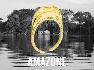 Bague Amazone dorée, bijoux Mya Bay ajustables