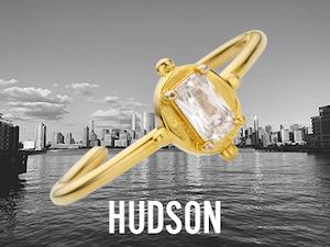 Bague Hudson dorée, bijoux Mya Bay ajustables