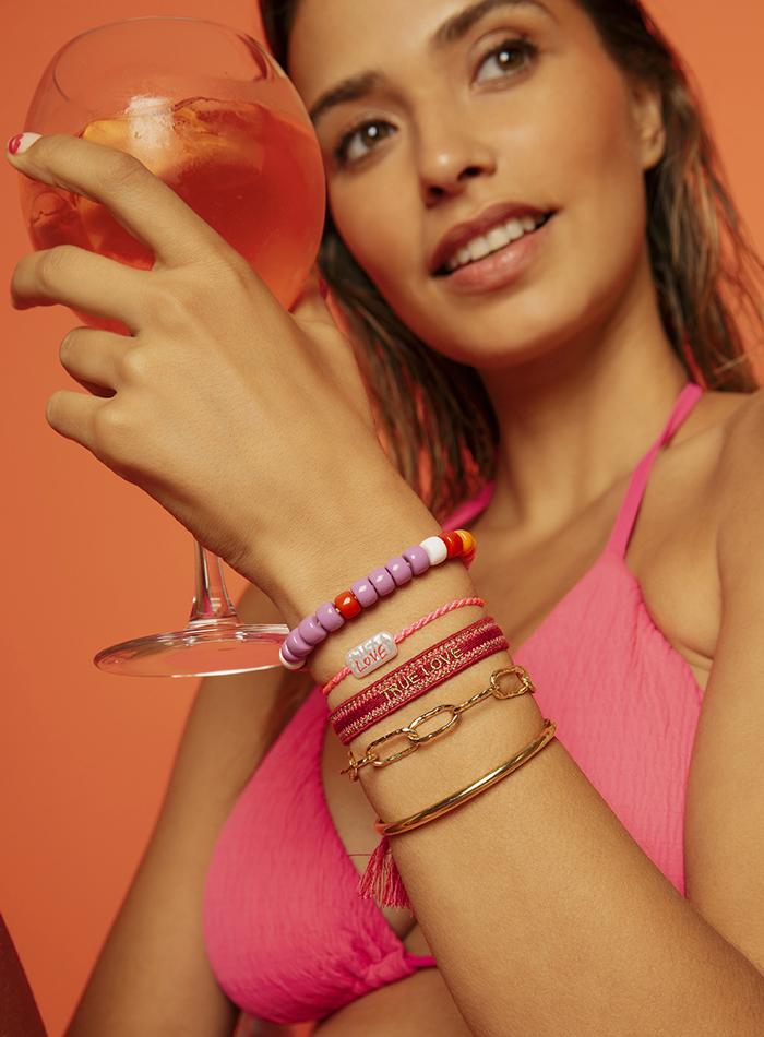 Bijoux colorés MYA BAY bracelet et colliers en perles de verre summer edition