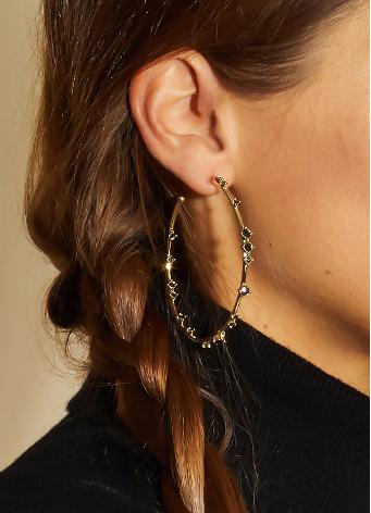Golden Hoops Earrings, Mya Bay jewels