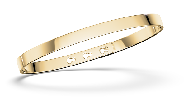 Bangle personalized in gold or silver, customizable rush to engrave on