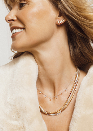 Necklaces earrings gold silver coat jewels MYA BAY