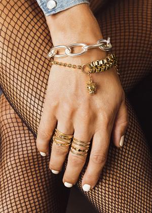 Bracelets Chains gold silver rings legs tights MYA BAY
