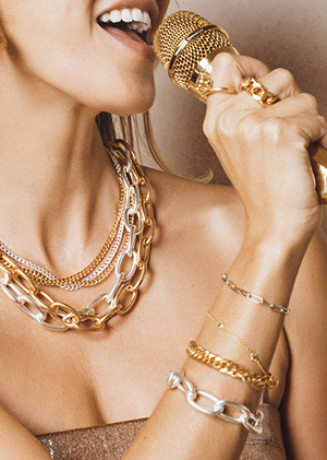 Jewels bracelets gold silver micro chains necklaces MYA BAY