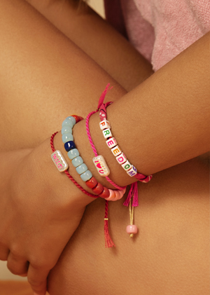 Bracelets MYA BAY collection kiss perles cordon couleurs