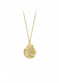 Necklace - Golden pepite